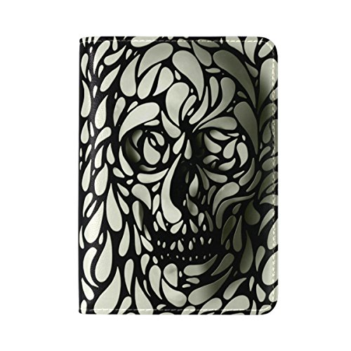 Sugar Skull Paisley Travel Passport Covers Holder Case Protector Leather