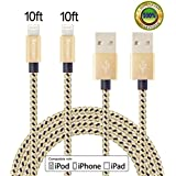 Beyoner 2Pack 10FT iPhone Charger Cord, Lightning Cable Nylon Braided for iPhone SE, 6s, 6s plus, 6plus, 6, 5s 5c 5, iPad Mini, Air, iPad 5, iPod on i