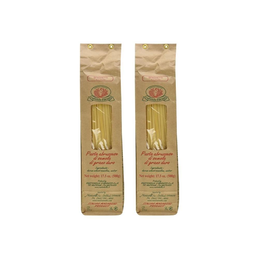 Rustichella D'Abruzzo, Spaghetti, 500g (Pack of 2)