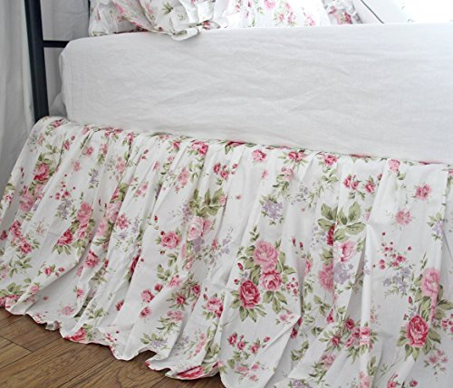 Shabby Print Bed Skirts French Country Chic Floral Bedskirt Dust Ruffles Shabby Chic Shabby Bedskirt