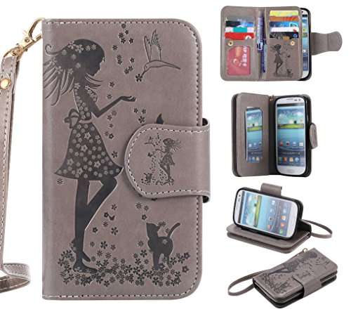 Galaxy S3 Case, CUSKING Wallet Leather Back Case with for sale  Delivered anywhere in Canada