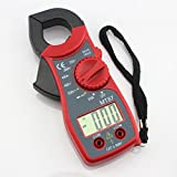 Generic Digital Multimeter LCD Clamp AC DC Voltage Current AMP OHM Resistance Pen Tester Ammeter Voltmeter Checker - Red