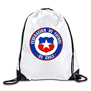 Runy Custom Federacion De Futbol De Chile Adjustable String Gym Backpack White
