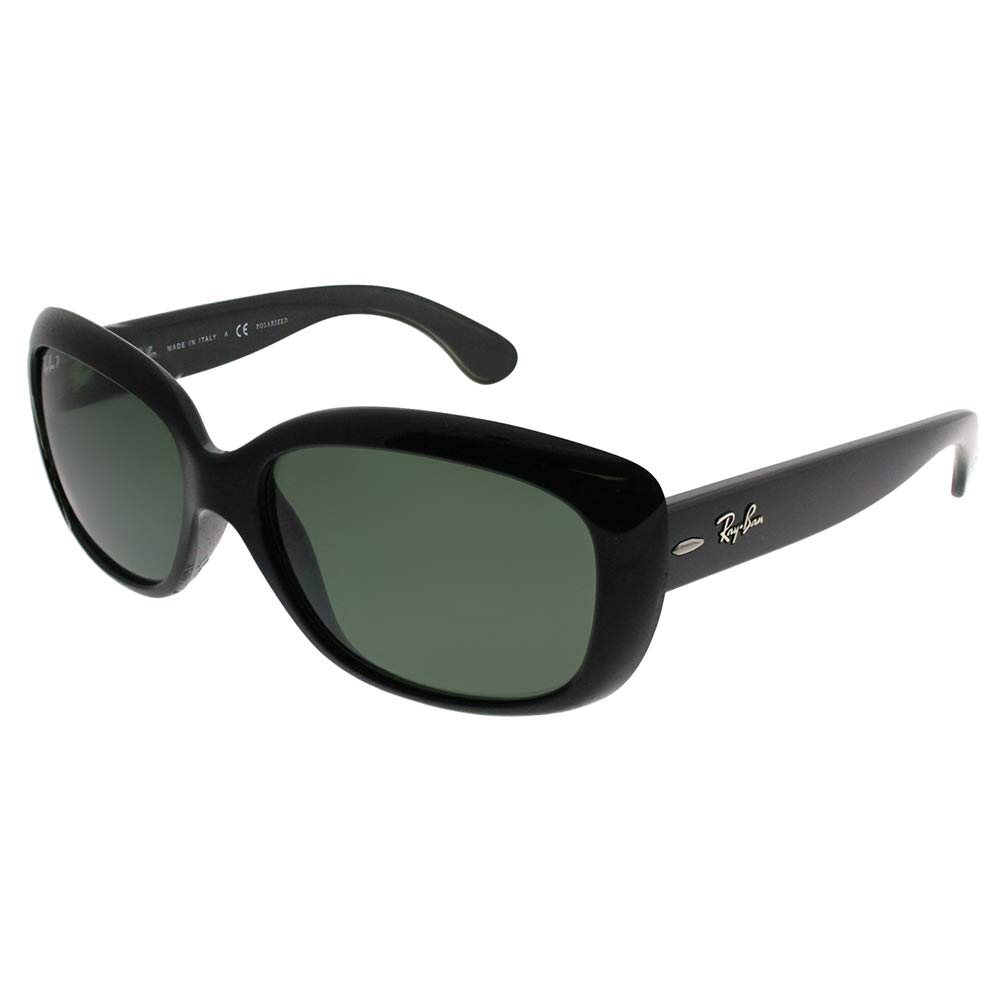 Ray-Ban 0RB4101 Square Sunglasses,Black Frame/Lens:Polarized Gray-Green Lens,One Size by RAY-BAN