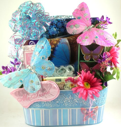 Indulgent Spa and Gourmet   Elegant Spa and Gourmet Gift Basket for Her