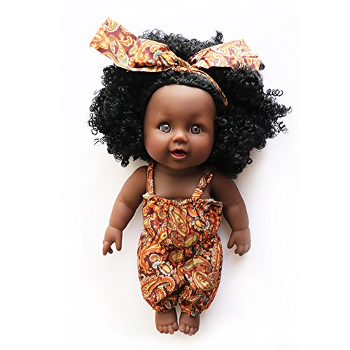 Search : Nice2You African American Doll Lifelike 12 inch Baby Reborn Dolls for Kids Children Christmas Gift (Style 1)