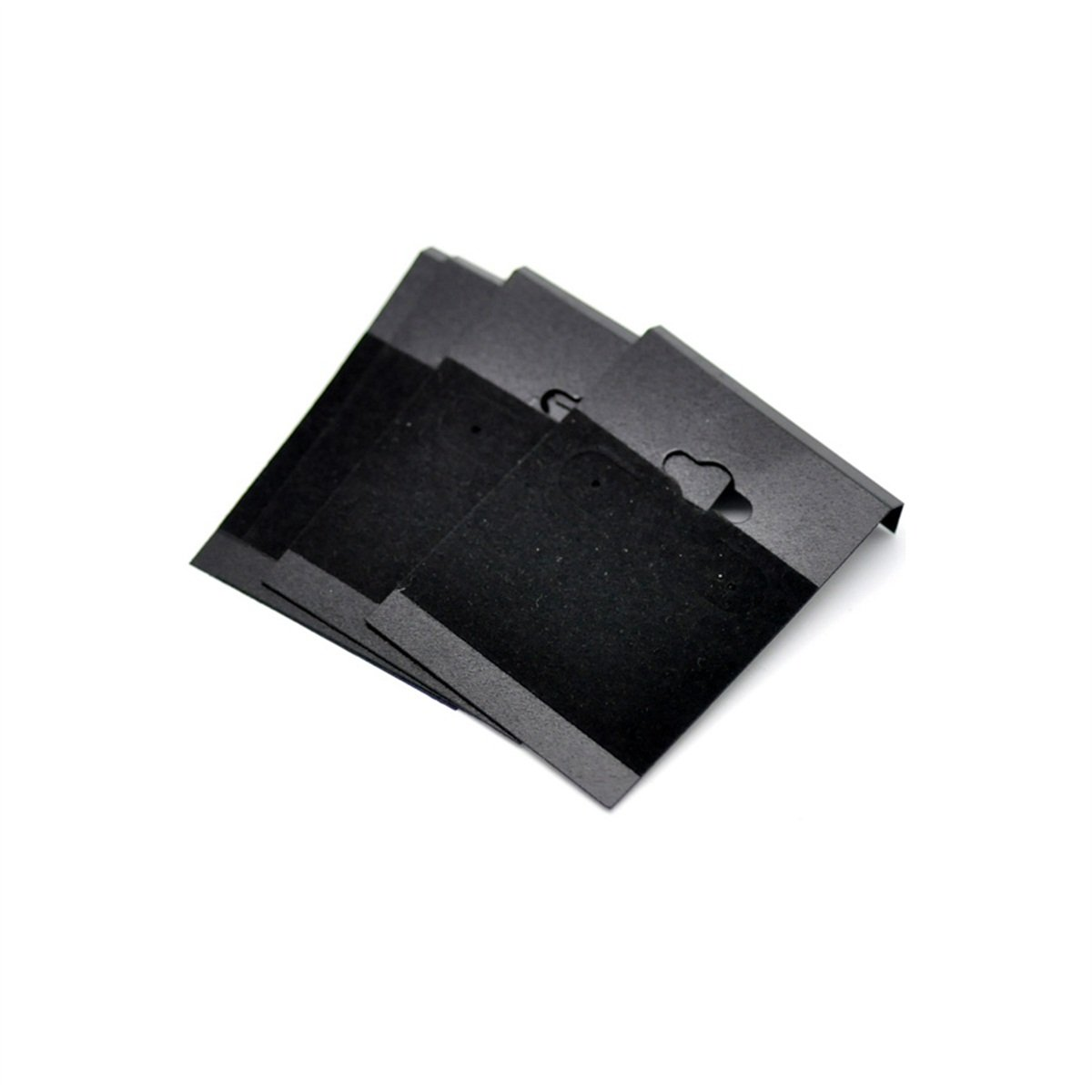 50 PCS Black Necklace/Earring Jewelry Display Square Cards New Retail Display Organizer Stand 6.2x4.5cm(2-1/2x1-3/4) kuoyue