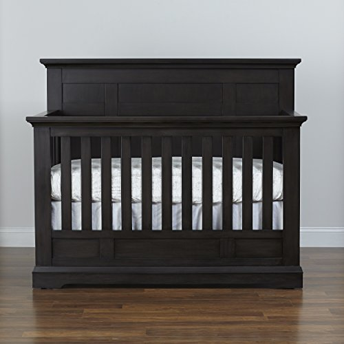 Centennial Chatham Flat Top Lifetime 4-in-1 Crib- Slate
