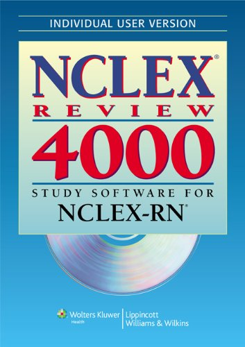 NCLEX® Review 4000: Study Software for NCLEX-RN® (Individual Version) (NCLEX 4000) by LWW