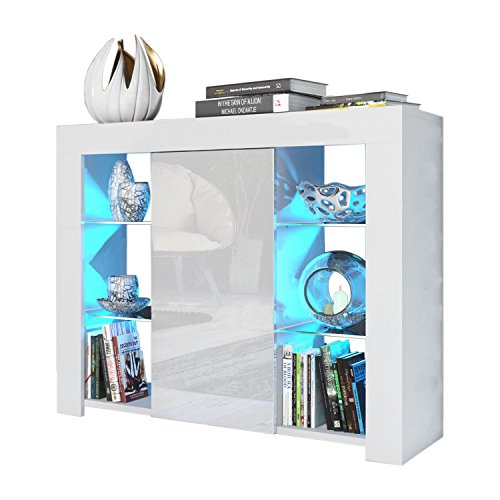 High Gloss Sideboard With Led Lights - 2