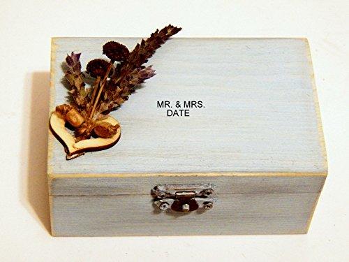 Rustic Ring Box Wedding Ring Box Wedding Wooden Box Engagement