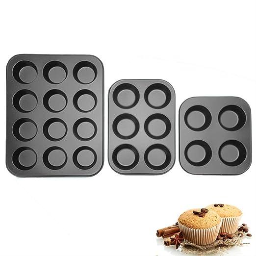 MYQG - Bandeja para Hornear, Magdalenas, Cupcakes, moldes para ...