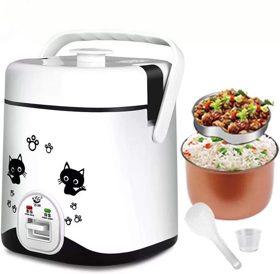 1.2L Mini Rice Cooker, Electric Travel Rice Cooker Small, Electric Lunch Box - Keep Warm Function- Suitable For 1-2 People - For Cooking Soup, Rice, Stews, Grains & Oatmeal