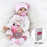 Kaydora Reborn Baby Doll 22 Inch Handmade Lifelike Baby Girl Doll Reborn Toddler, Named Lucy