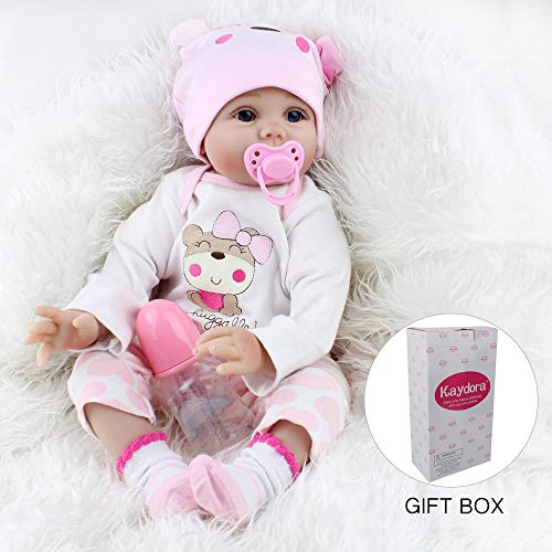 Kaydora Reborn Baby Doll Girl 22 Inch Lifelike Real Baby Doll Reborn, Named Lucy