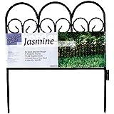 Origin Point 060018 Jasmine Classic Decorative Steel Landscape Border Fence Section