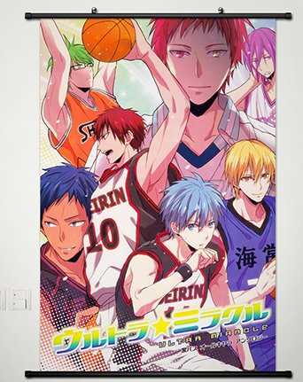 Kuroko No Basket Wall Scroll Poster Fabric Painting for Anime Key Roles 092 L