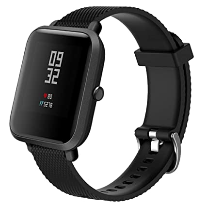 JP-DPP9 for Xiaomi Huami Amazfit Bip Watch Band, Sport Replacement Soft Silicone Strap