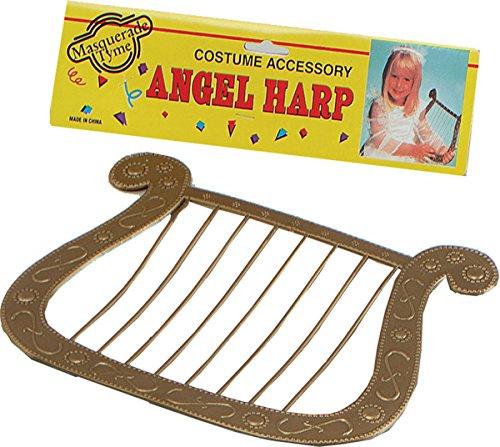 bristol-novelties-angel-harp-gold-colour