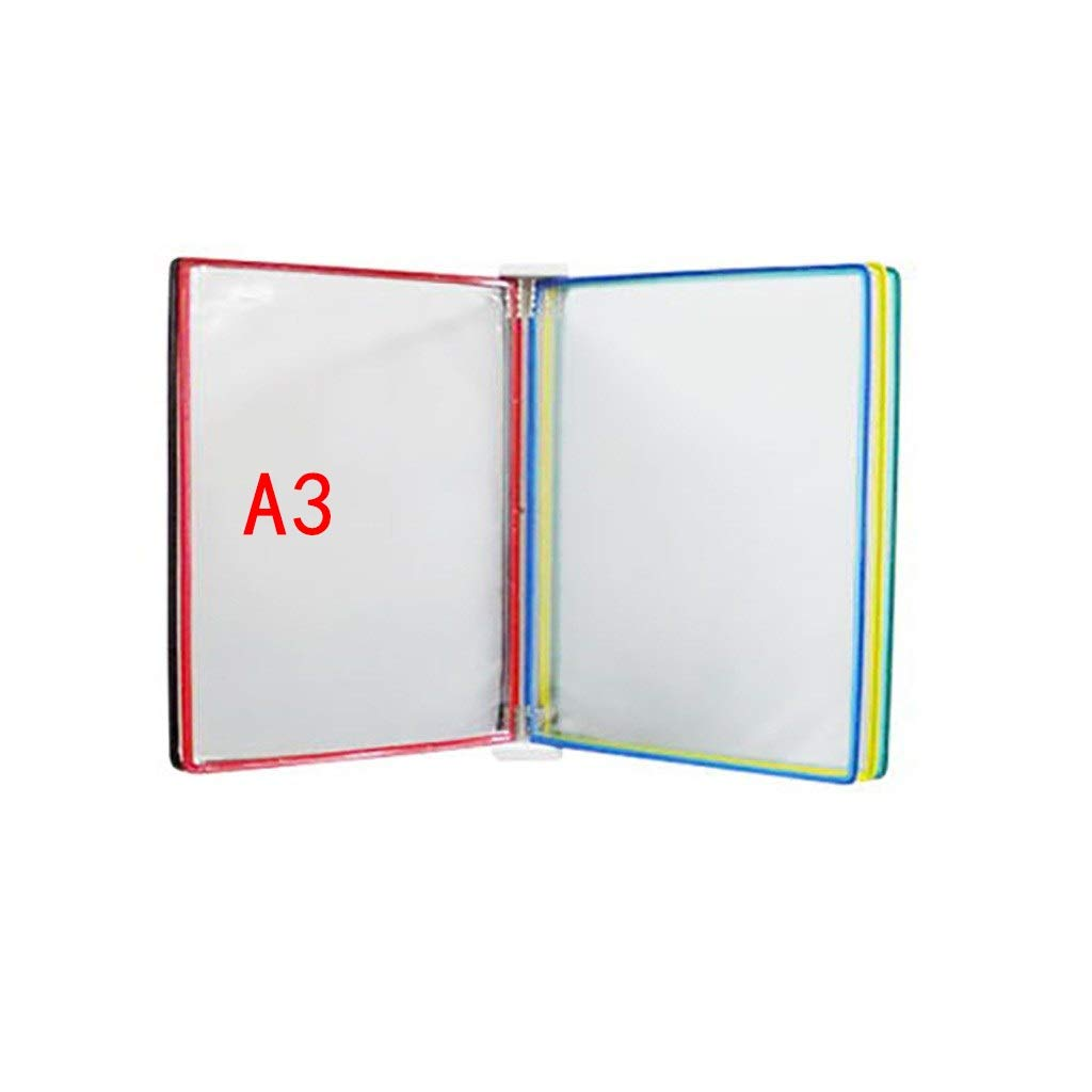 QSJY File Cabinets Document Display Holders a3 with 5 Panels and 10 Pockets(PVC+Metal) 45324.5CM (Color : B)