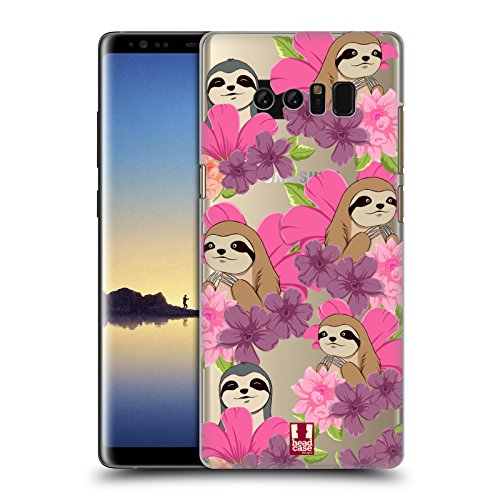 Head Case Designs Sloth Floral & Animal Pattern Hard Back Case for Samsung Galaxy Note8 / Note 8