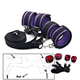 Sex Bondage Under Bed Restraints Fetish Adult Sex Toys for Woman Handcuffs Ankle Cuffs Slave Sex Products for Couples Red