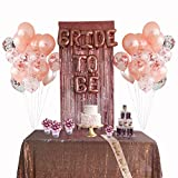 Rose Gold Bachelorette Party Supplies - Bridal Shower Decorations with Rose Gold Balloons, Confetti Balloons & Foil Balloon - Bachelorette Party Favors Bride-to-Be Sash, Foil Curtain & Balloon Ribbon