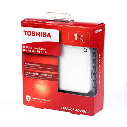 Toshiba Canvio Advance 1TB Portable External Hard Drive USB 3.0, White (HDTC910XW3AA) by Toshiba (Image #5)