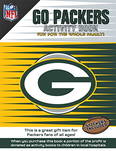 NFL Green Bay Packers Activity Book/Green/White/One Size