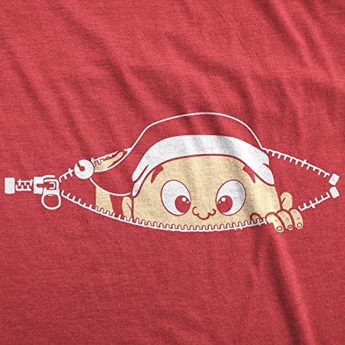 9ed6f231 Crazy Dog T-Shirts Maternity Christmas Baby Peeking Elf Funny T Shirt  Holiday Xmas Pregnancy