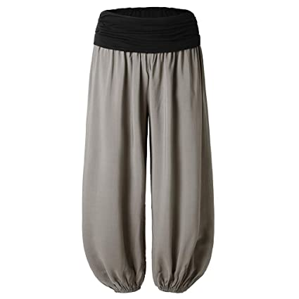 Amazon.com: Yoga Harem Pants For Women Solid Gypsy Aladdin ...