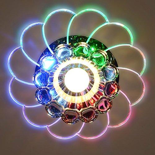 Zehui LED Ceiling Lamp for Hallway Bedroom Kitchen Decor Modern Colorful 5W Crystal Chandelier by Zehui (Image #5)