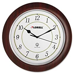 60986 Lorell Radio Control Wall Clock - Digital - Quartz - Atomic