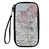 Instantarts Personalized Map Printed Travel Wallet Passport Holder Pouch Messenger Bag