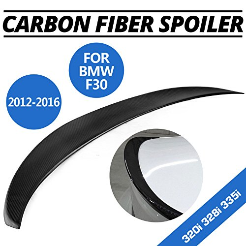 Mophorn Carbon Fiber Rear Trunk Lip Spoiler Fit For 2012 - 2016 BMW F30 320i 328i 335i 340i Sedan 4-Door Rear Wing Spoiler Performance Type Replacement Wing Lip Trunk Boot Rear Spoiler (Rear Wing)