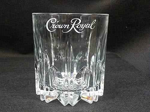 Crown Royal Whiskey Crystal Cut Starburst Pattern Lowball Rocks Glass