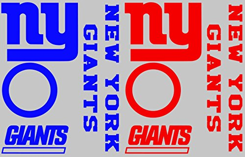 - New York Giants Cornhole Decal Set - FREE circles and 2 FREE Car Window Decals