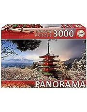 Educa 18013, Chureito Pagoda, 3 000 bitar pussel för vuxna och barn från 14 år, Japan, landskap