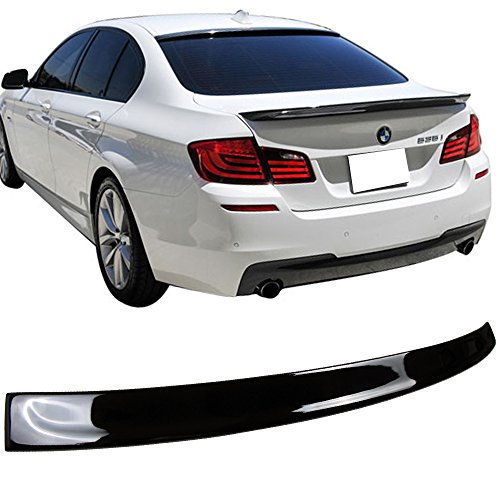 Pre-painted Roof Spoiler Fits 2011-2016 5 Series 3D | 3D Style Painted Black Sapphire Metallic (Color Code # 475) ABS Rear Wing Window Roof Top Spoiler Other Color Available by IKON MOTORSPORTS | 2012 (Window Wing)