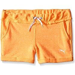 PUMA Big Girls' Activewear Short, Orange Pop, 7 (Small)
