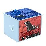 FunnyToday365 Cute Cartoon Godzilla Movie Musical Moving Electronic Coin Money Piggy Bank Box