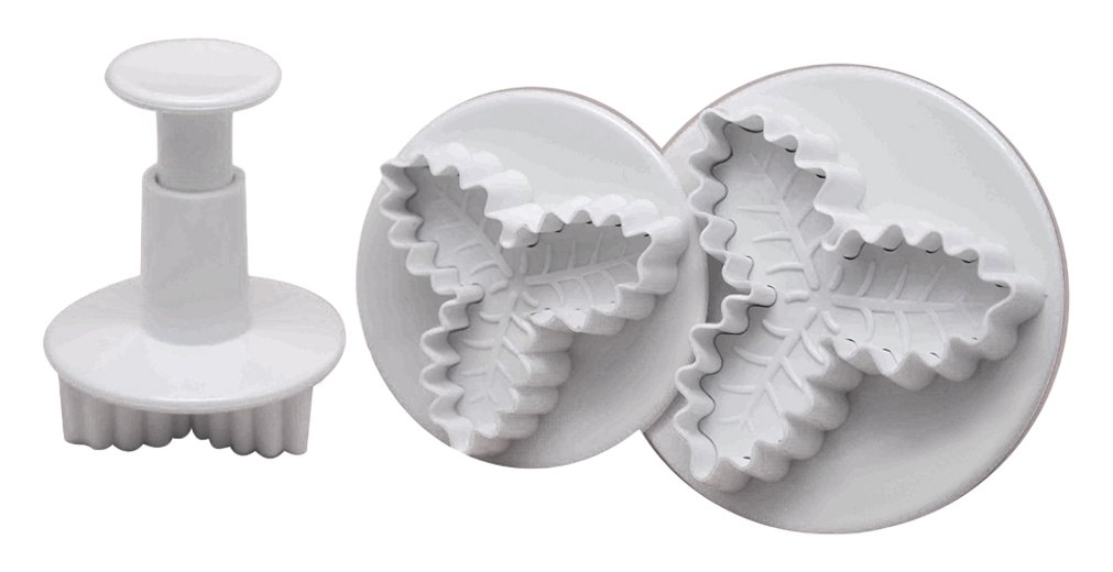 DeColorDulce Set of Food Biscuit Cutters with Ejector, White, 28x 12 x 4cm, Pack of 3 Silicone Gold SG1361