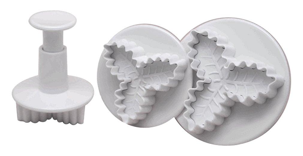 DeColorDulce Acebo Set Cortadores con Expulsor, Blanco, 28x12x4 cm, 3 Unidades Silicone Gold SG1361