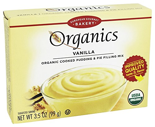 European Gourmet Bakery - Organic Cooked Pudding & Pie Filling Vanilla - 3.5 oz.(pack of 3)