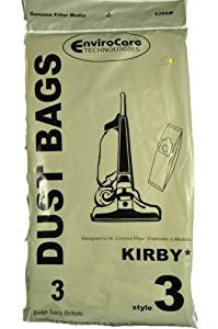 EnviroCare Replacement Vacuum Bags for Kirby Style 3 Heritage II Series Uprights 3 Bags