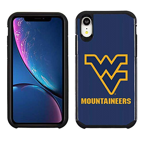 Prime Brands Group Cell Phone Case for Apple iPhone XR - Blue/Black - NCAA Licensed Case for West Virginia Mountaineers ()