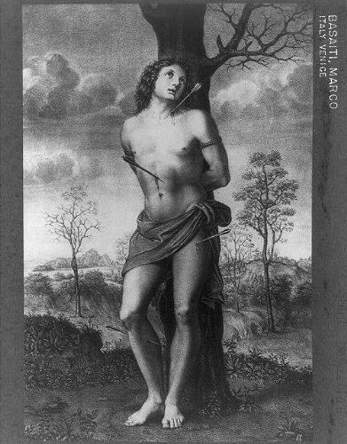 Photo: Saint Sebastian,d288,Christian martyr,Tied to post, by Infinite Photographs