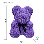Homentum-Rose-Bear-Teddy-Forever-Artificial-Flowers-are-The-Best-Gifts-for-Valentines-Day-Anniversaries-Birthdays-Weddings-Large-Purple