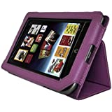 Image® Full Screen Touchable PU Leather Cover Case for Barnes and Noble Nook Tablet Nook Color with Stand Purple
