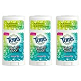 Tom's of Maine Natural Wicked Cool Deodorant for Girls Summer Fun 2.25 oz (Pack of 3)